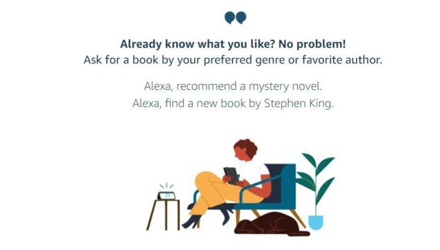 amazon alexa consigli prossimi libri da leggere
