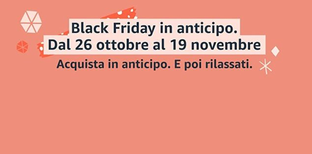 amazon black friday 2020 lancio anticipo