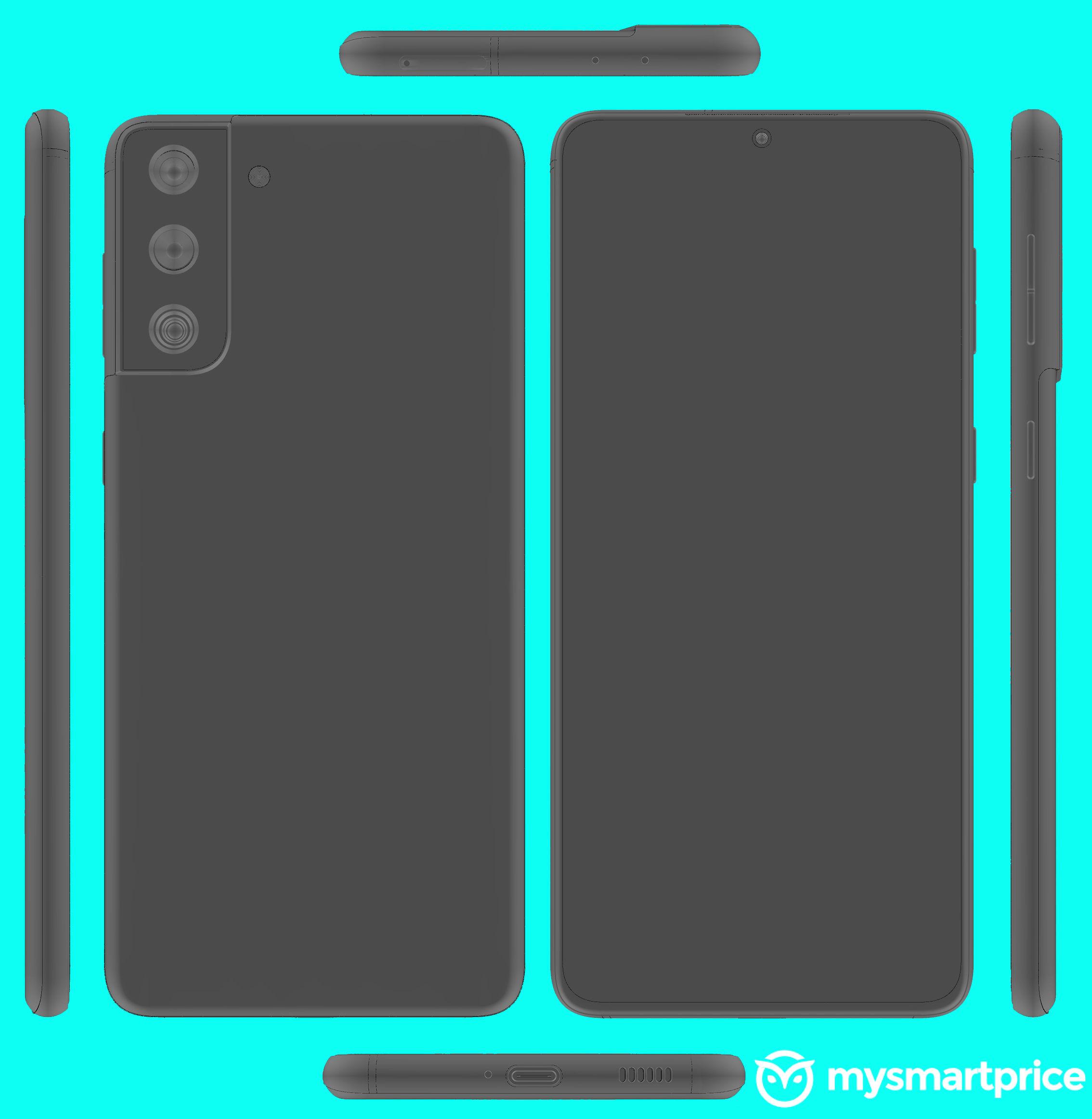 Samsung Galaxy S21+ render