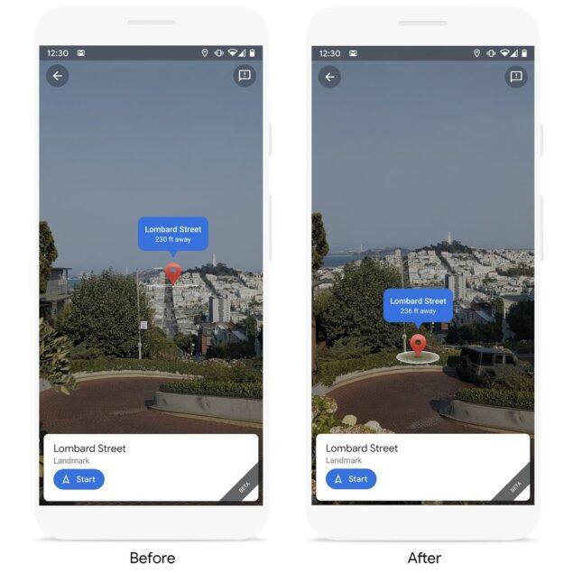 google live view punti di riferimento trasporto novità