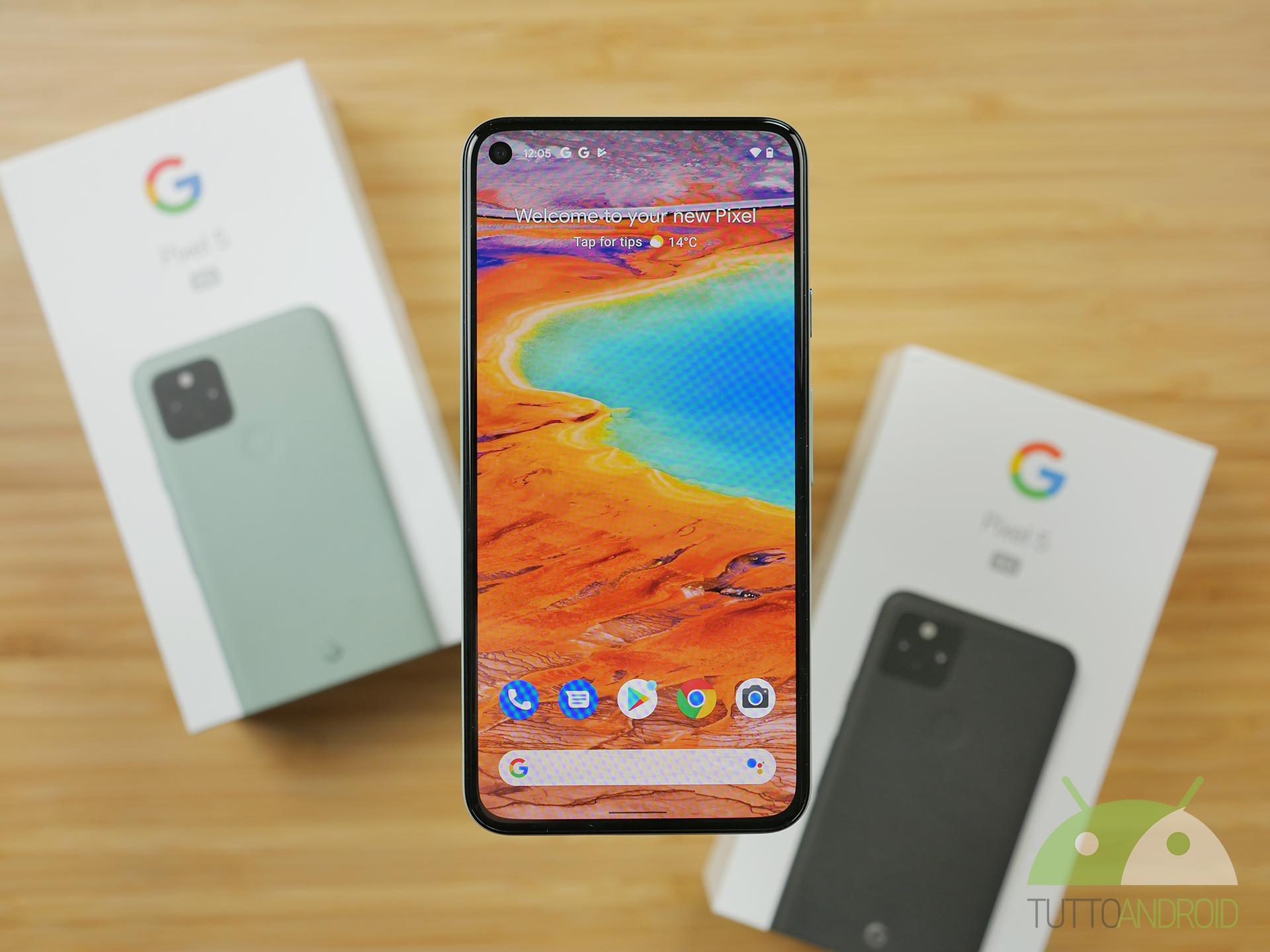 Zitta zitta, Google dà altre funzioni esclusive a Pixel 5: nuove opzioni per il feedback aptico