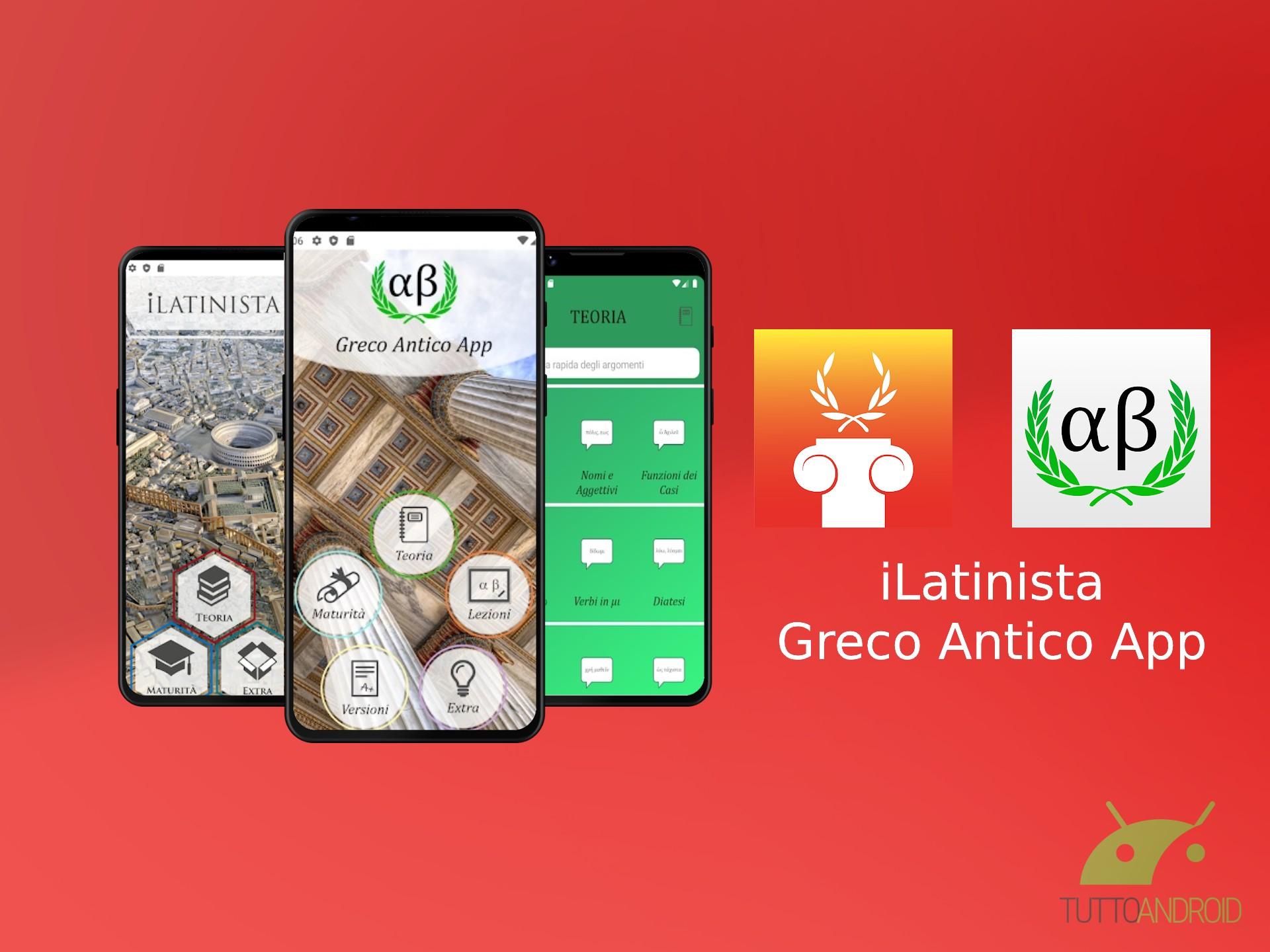 Le app iLatinista e Greco Antico App sbarcano finalmente su Android