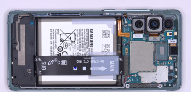samsung galaxy s20 fan edition teardown video