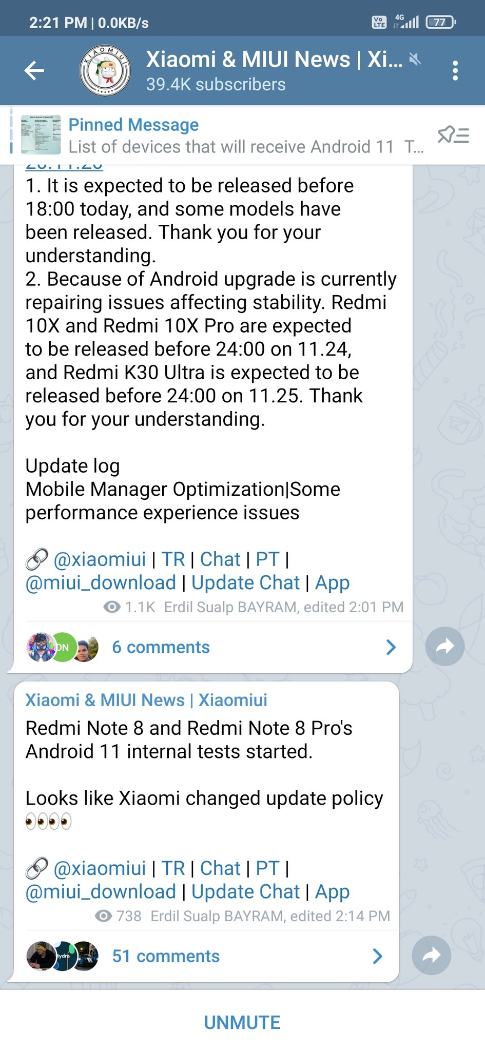 redmi note 8 pro android 11 rumor