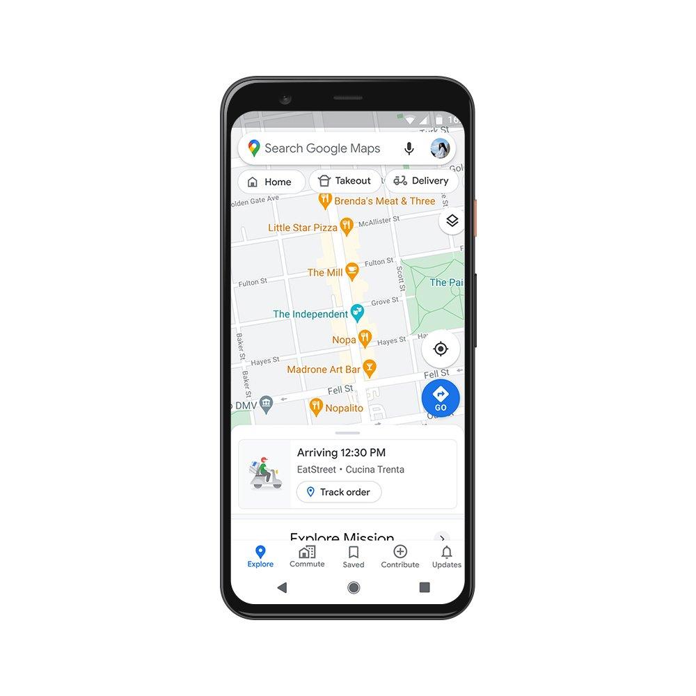 Google Maps cibo a domicilio