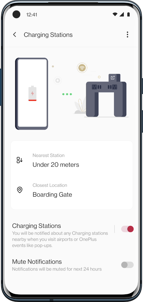 OnePlus Nearby Charging Stations