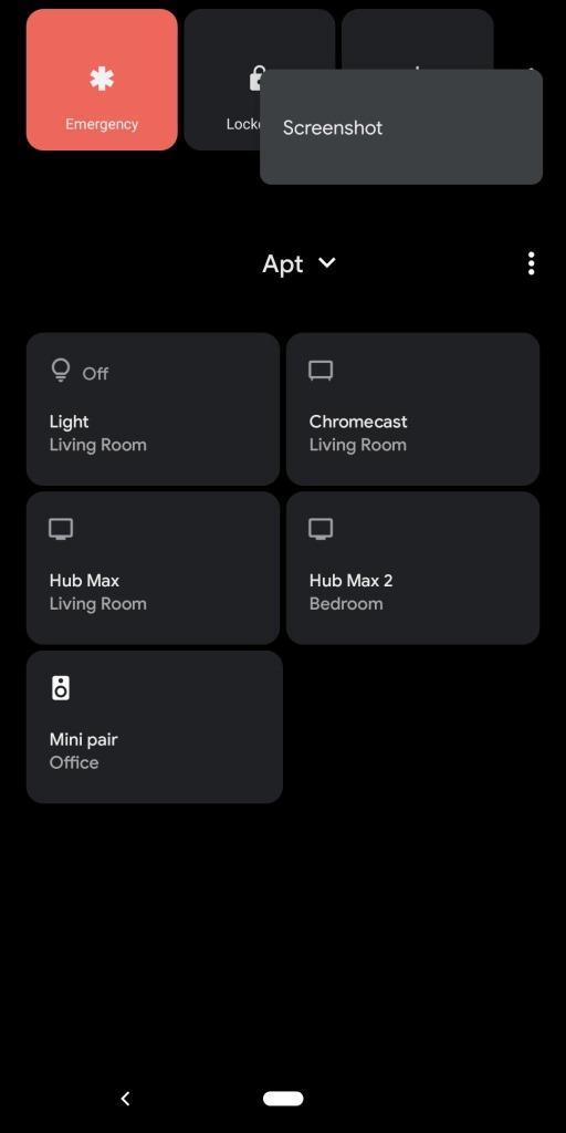 google pixel power menu screenshot tasto