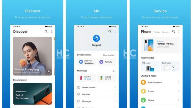 huawei app supporto 10.1.10.311 aggiornamento novità