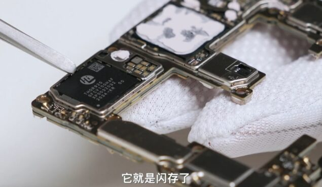 huawei mate 40 rs teardown chip memoria proprietario