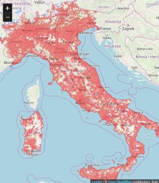 iliad impianti 4g attivi italia ottobre