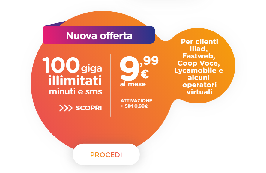 ho. mobile offerta 100 GB