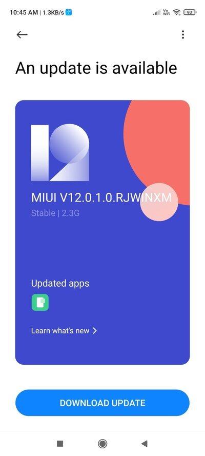 redmi note 9 pro 12.0.1.0.rjwinxm aggiornamento novità