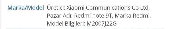 redmi note 9t tenaa k40 display ricarica rapida