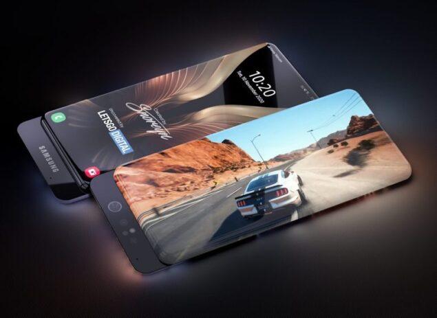 samsung galaxy smartphone display fotocamera scorrimento