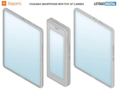 xiaomi smartphone pieghevole fotocamera pop up brevetto
