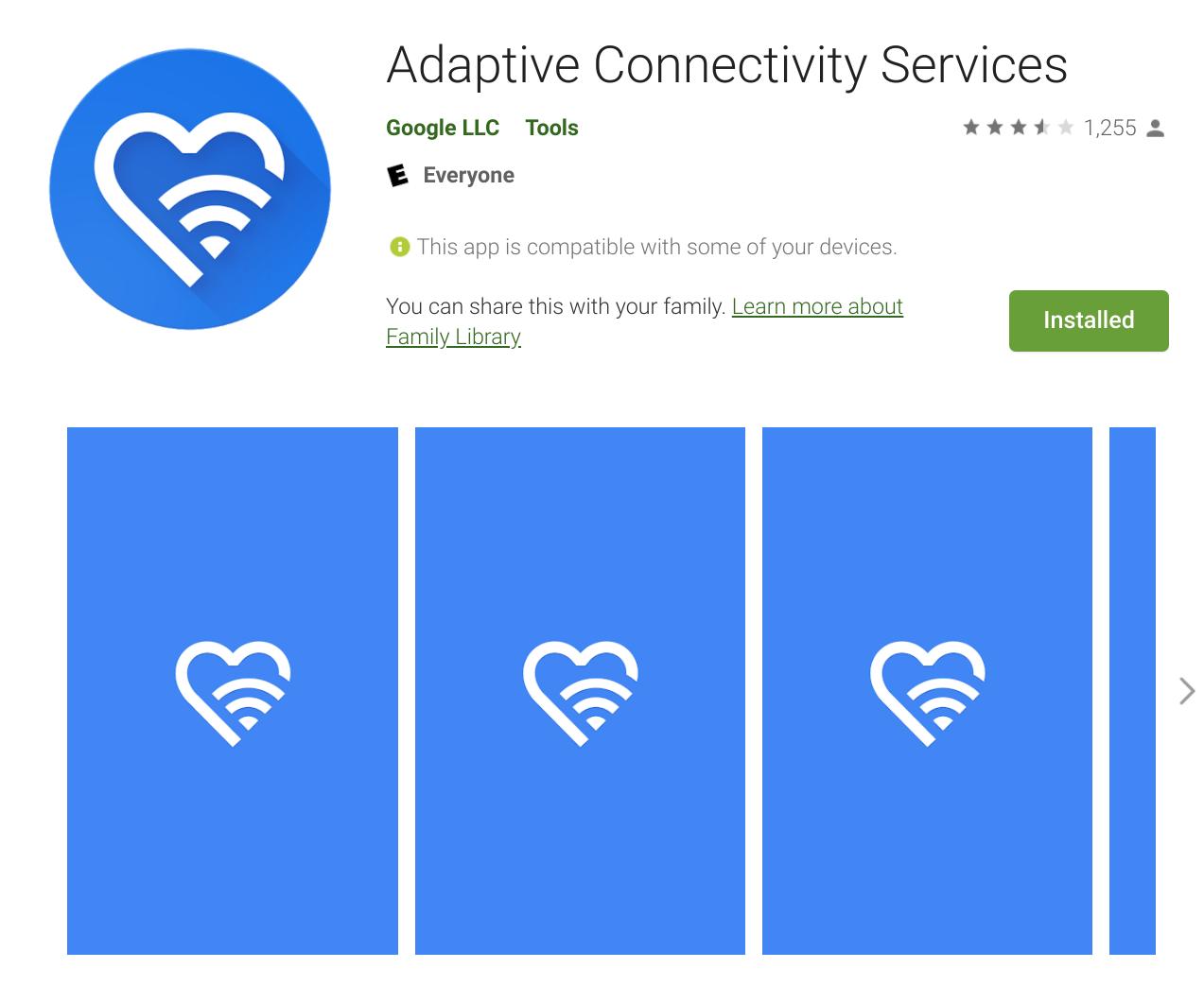 Google Adaptive Connectivity Services