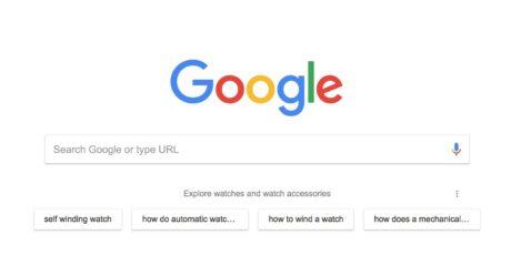 Google Chrome suggerimenti ricerca