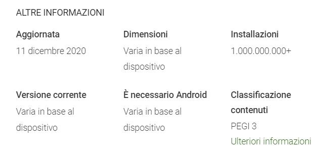 Google Play Services per AR