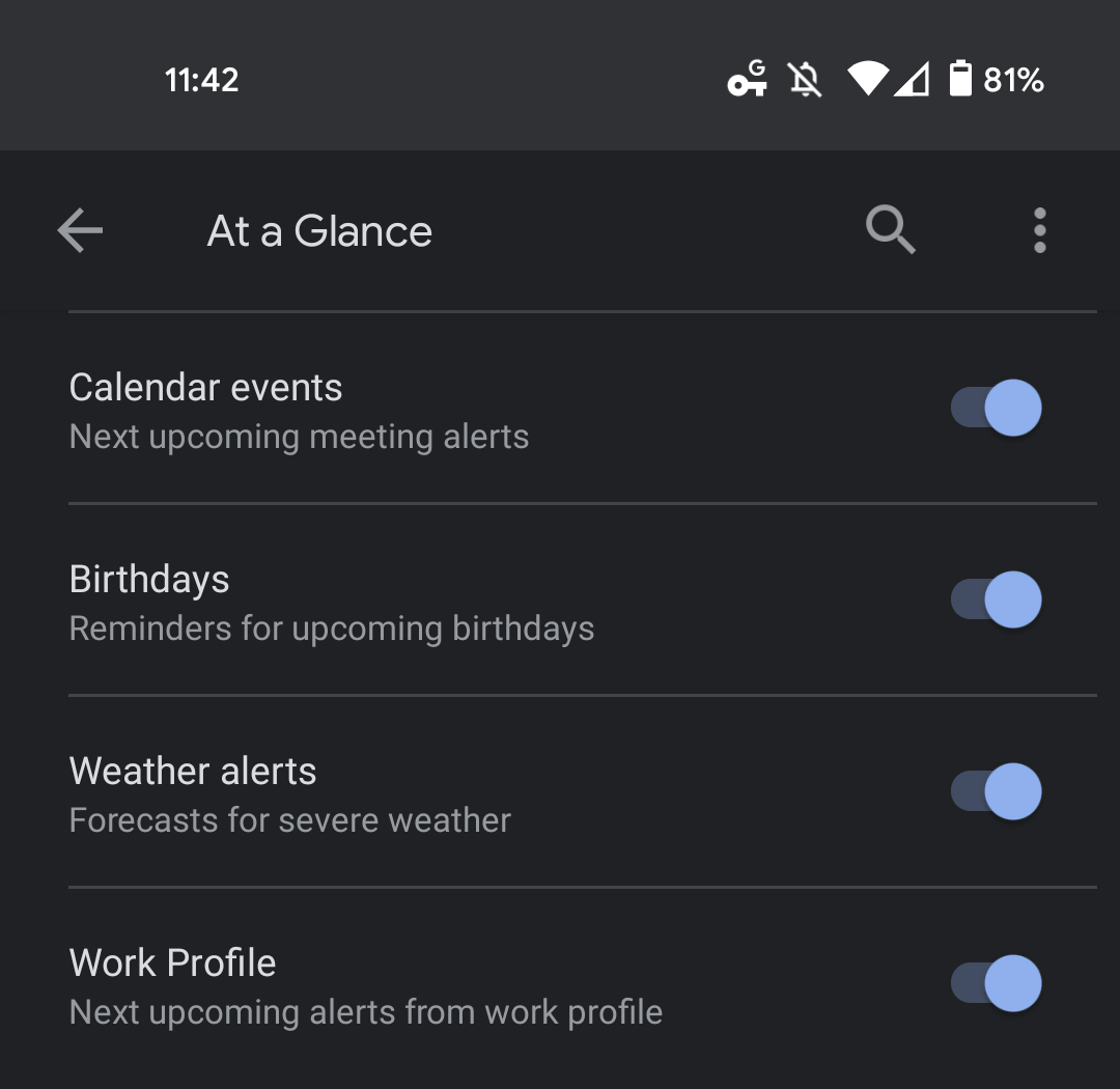 Pixel Launcher At a Glance