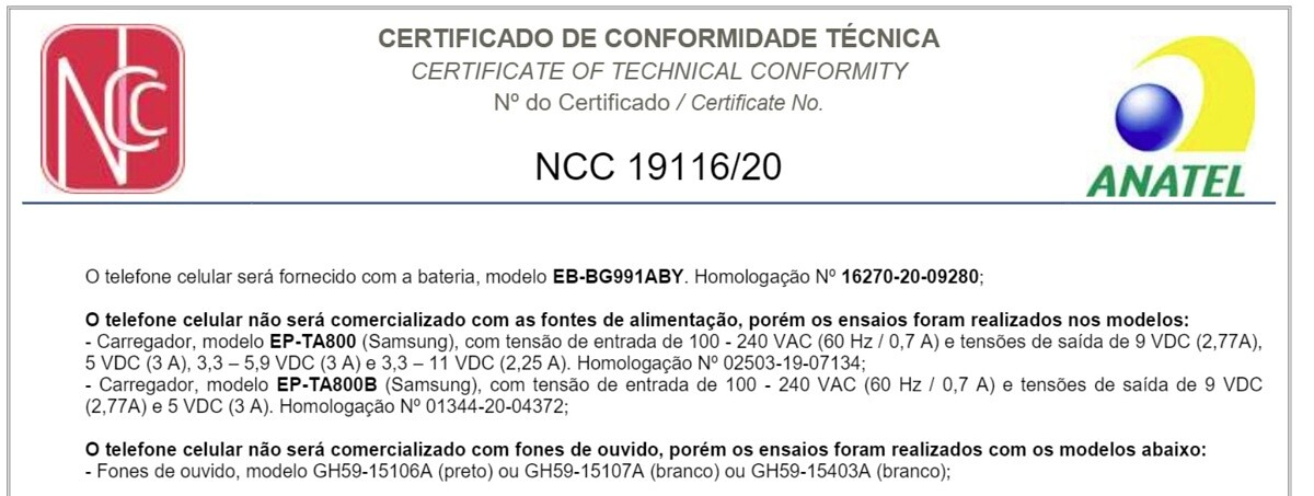 Samsung Galaxy S21 Brasile