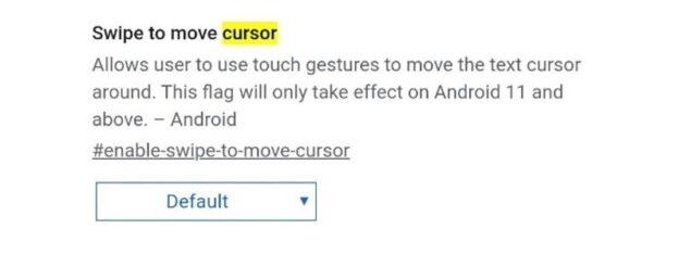 google chrome canary swipe cursore