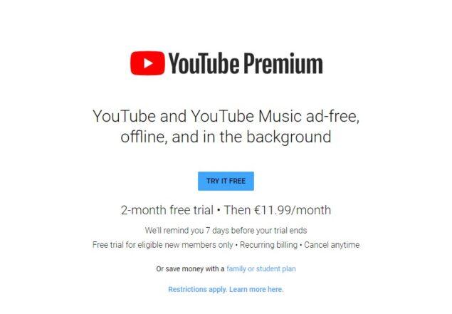 youtube premium 3 mesi gratis promozione