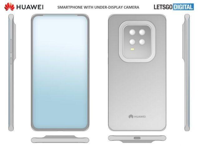huawei smartphone icone cornice brevetto