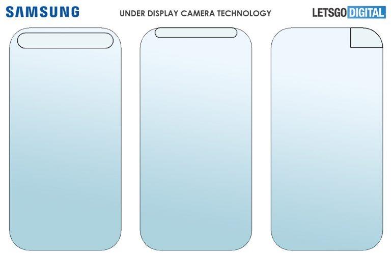 samsung fotocamera sotto il display brevetto