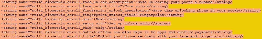 android 12 dp code google pixel 6 face unlock fingerprint