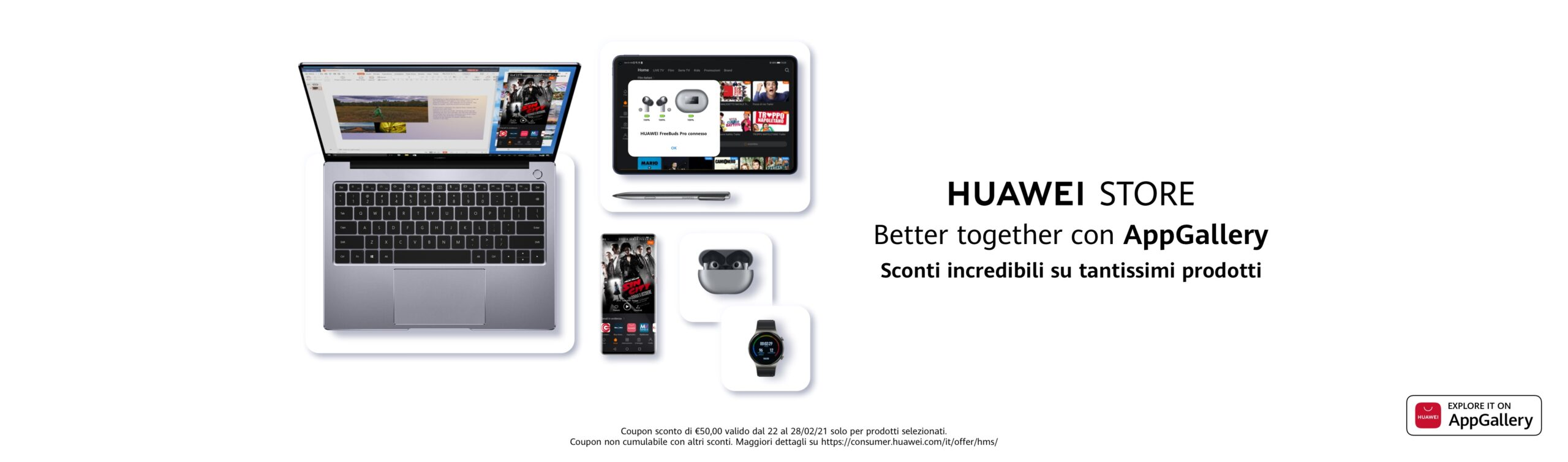 Offerte Better together with AppGallery Huawei Store