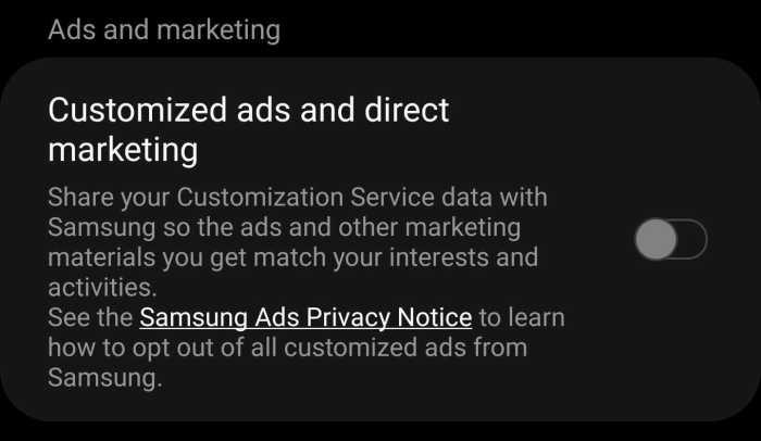 samsung annunci pubblicitari