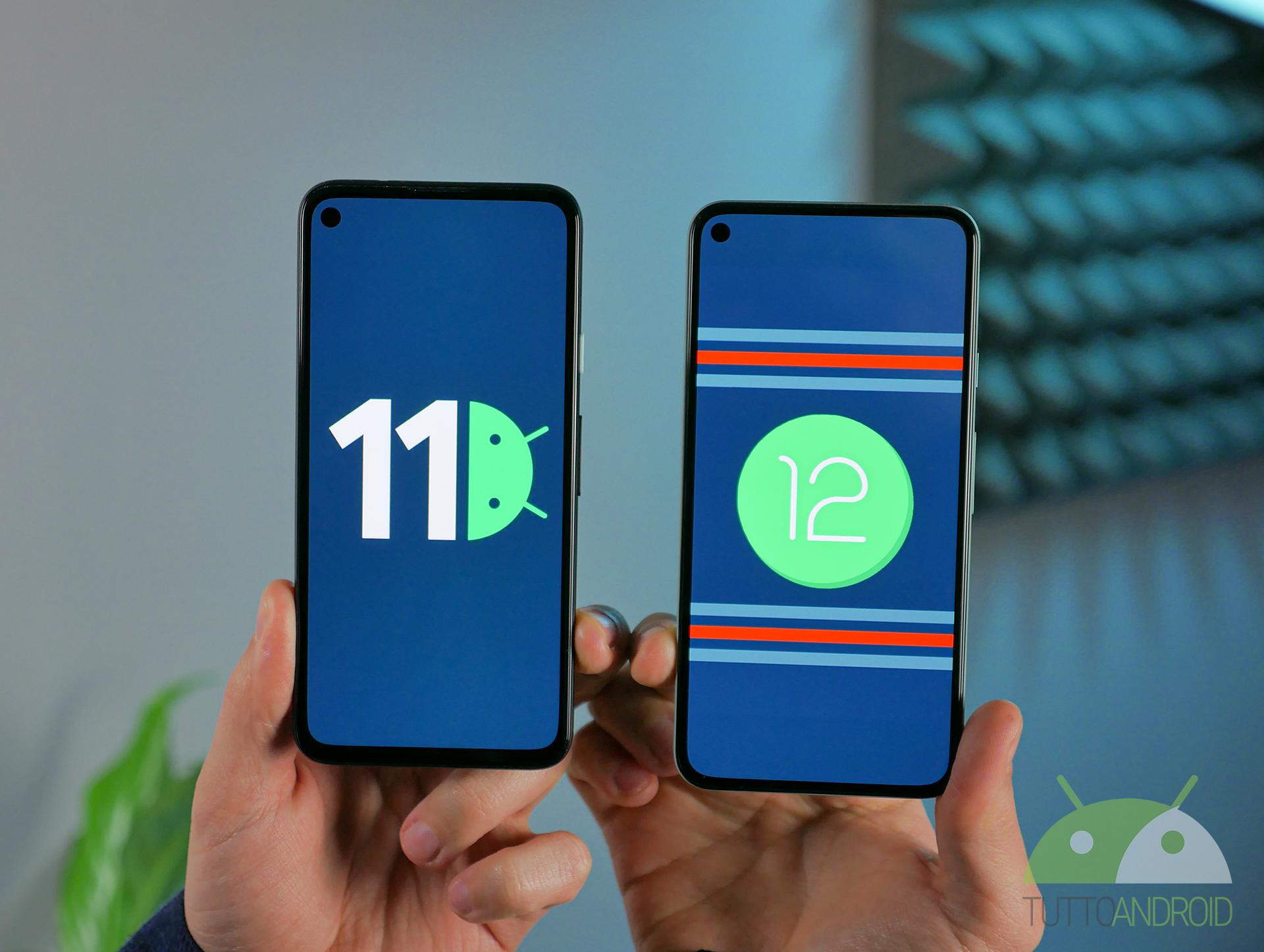 Le novità grafiche e funzionali di Android 12 contro Android 11