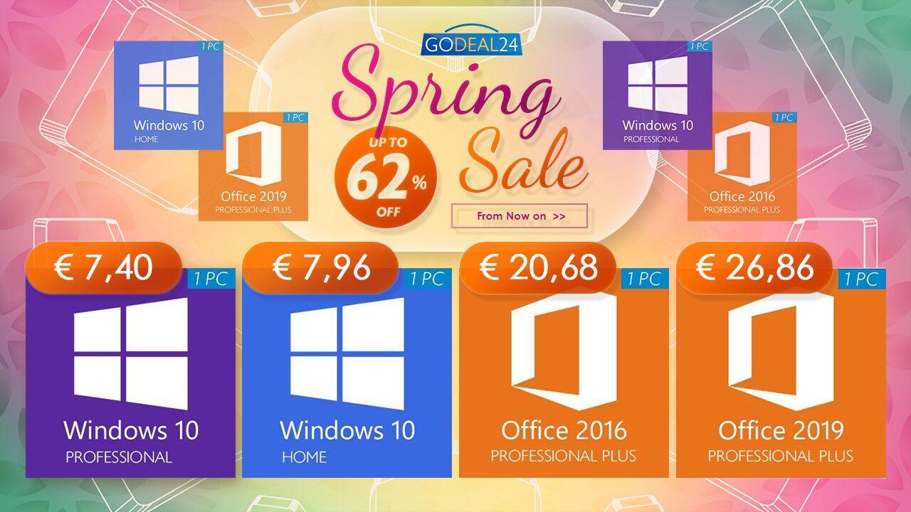 Con la Spring Sale di GoDeal24 bastano sei euro per avere Windows 10