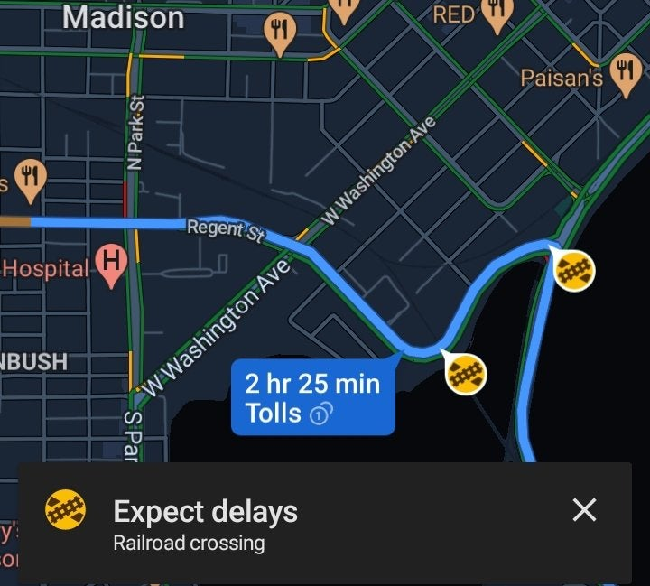 google maps passaggi a livello