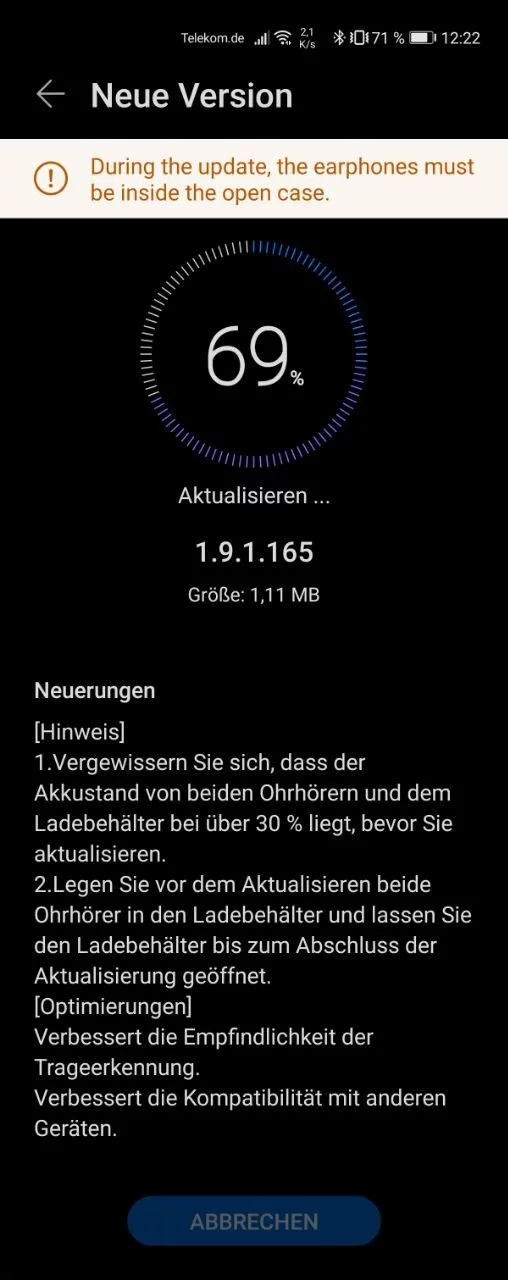 redmi note 9s 12.0.1.0.rjwmixm huawei watch fit freebuds 3i aggiornamenti novità