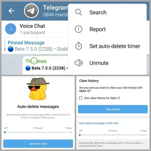 telegram beta 7.5 aggiornamento novità