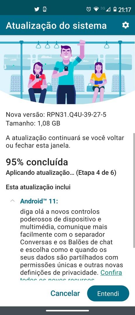 aggiornamento Motorola Moto G 5G Plus Android 11