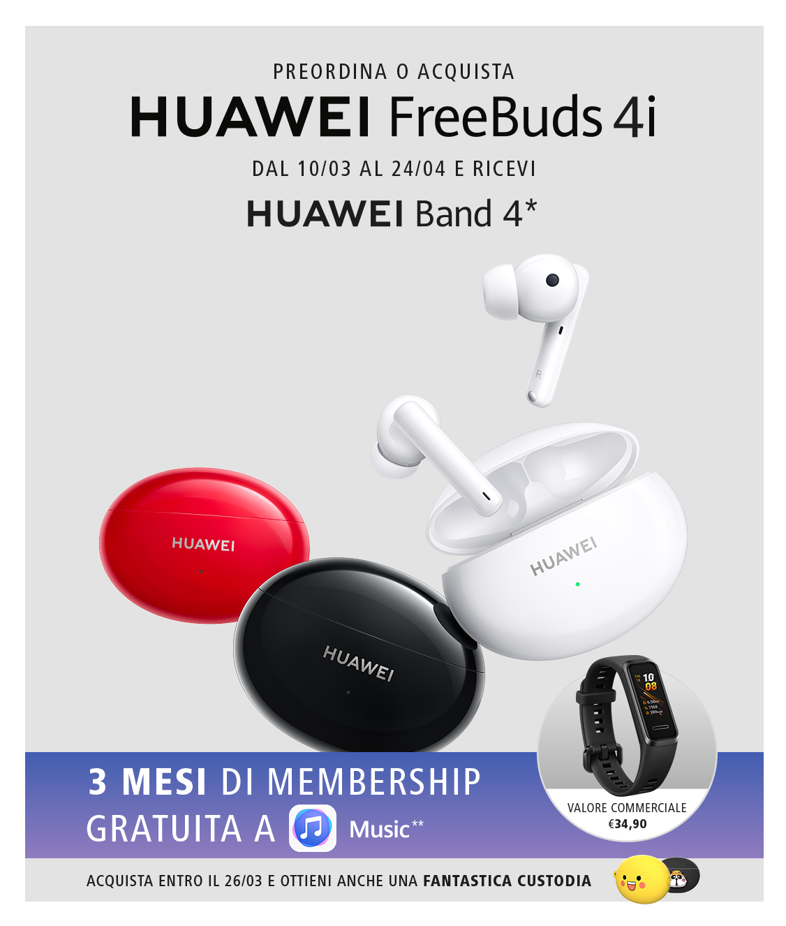 huawei freebuds 4i promozione lancio
