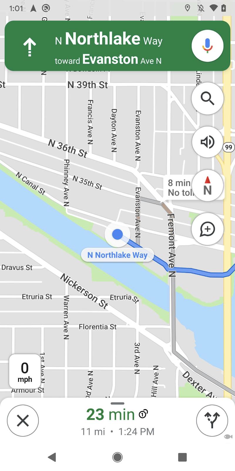bussola su Google Maps