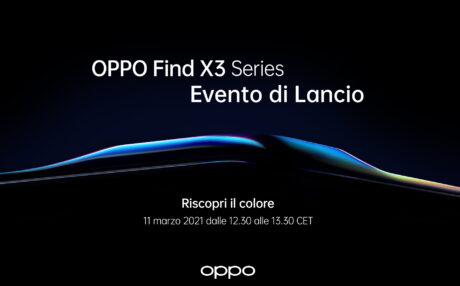 data presentazione OPPO Find X3 Series