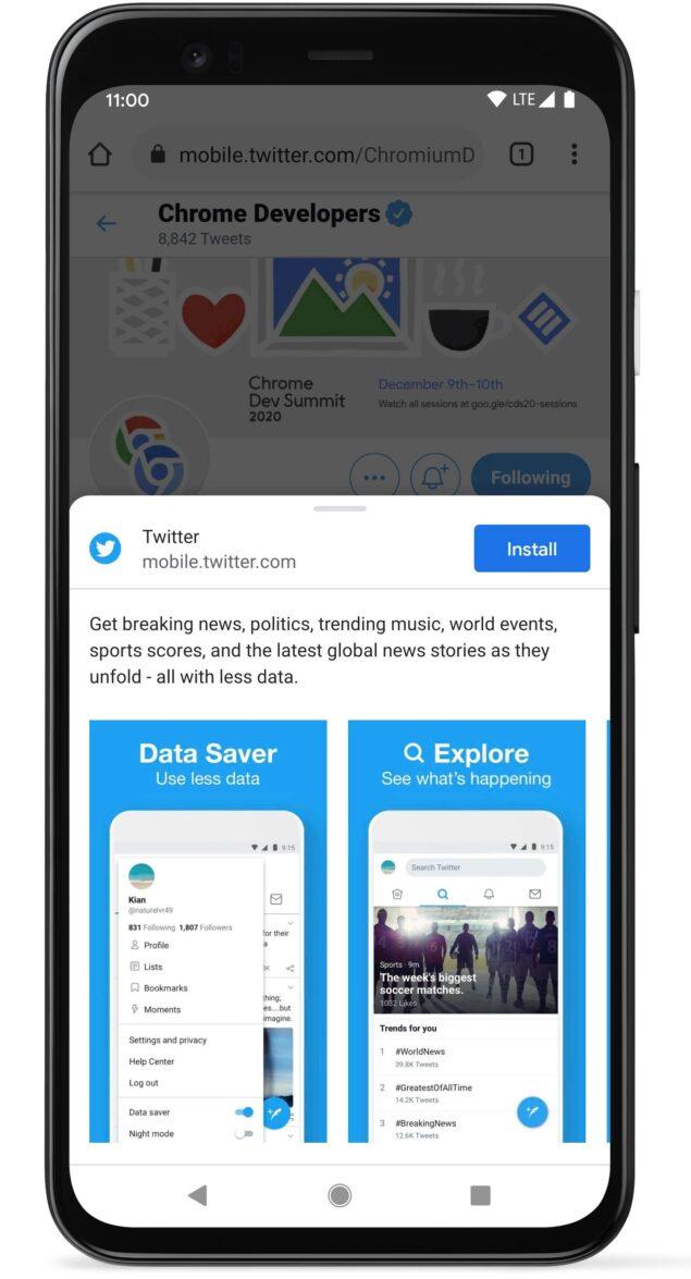 Progressive Web Apps nuovo design