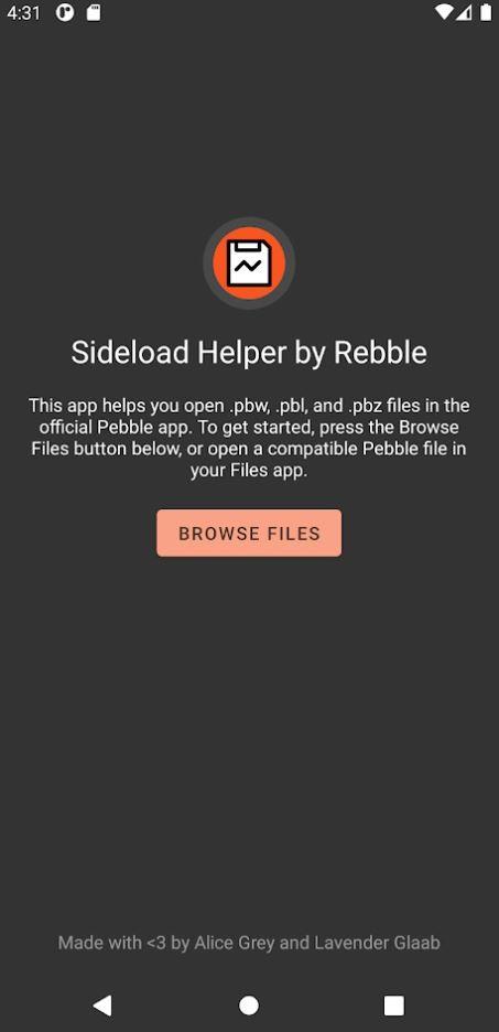 Sideload Helper by Rebble