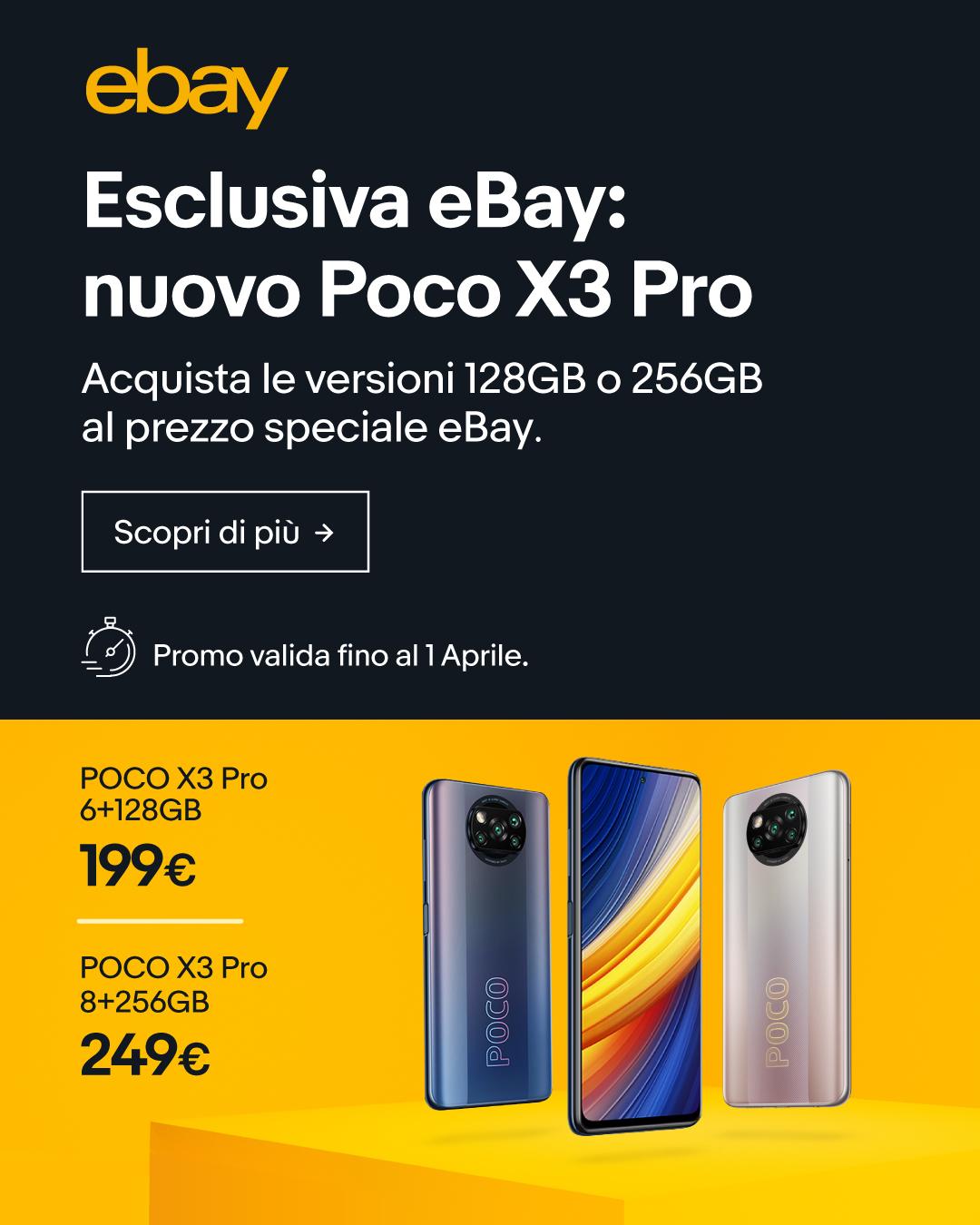 offerta lancio POCO X3 Pro eBay