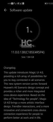 honor 20 aggiornamenti emui 11 magic ui 4