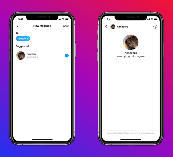instagram minorenni protezione messaggi privati