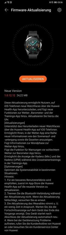 huawei watch gt 2 aggiornamento