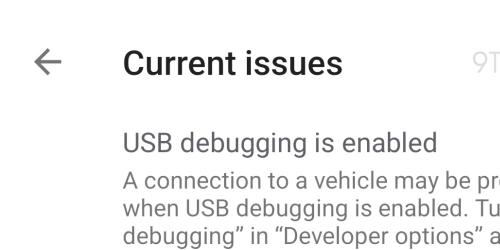 android auto usb debug modalità giorno notte mappe teardown