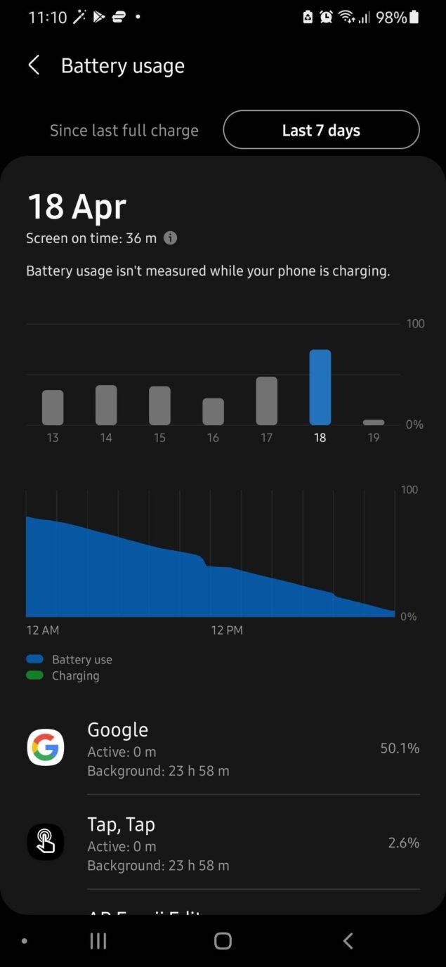 app google consumi android bug