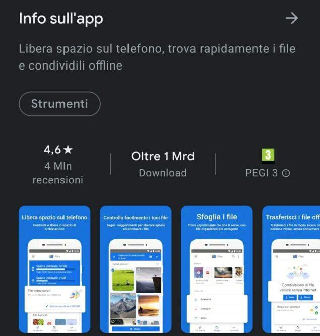 files di google 1 miliardo download play store