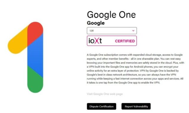 Google One ioXt